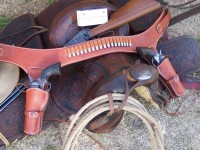 "Saddle Tan Double Rig 5 1/2"" Colt SAA"