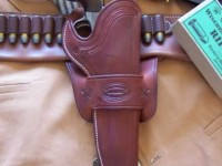 "Texas style Mexican Loop 7 1/2"" Colt S.A.A. Cross Hatch Border Tooled"